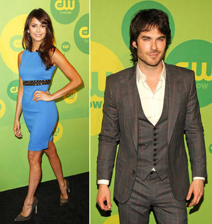 Ian Somerhalder and Nina Dobrev Walk Red Carpet Separately at CW Upfront
