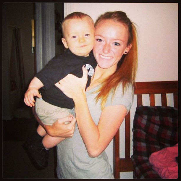 Maci Bookout Holds Baby Bentley in 2009 — Throwback! (PHOTO)