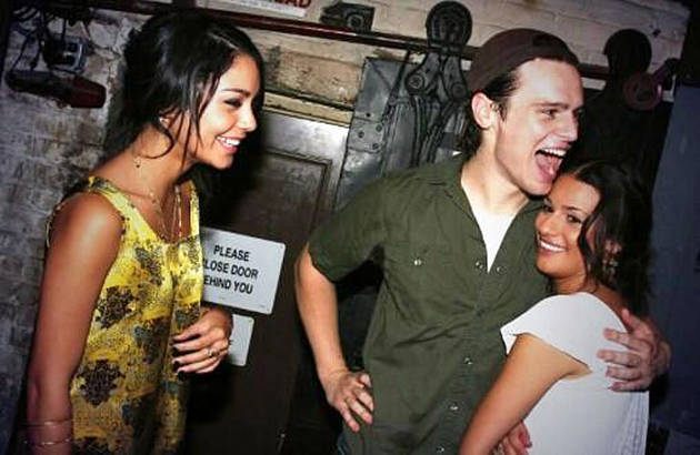Flashback: Lea Michele and Jonathan Groff Met Vanessa Hudgens! (PHOTO)