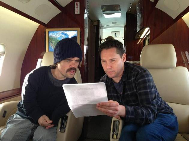 Peter Dinklage Sports Mustache, Reads X-Men: Days of Future Past Script