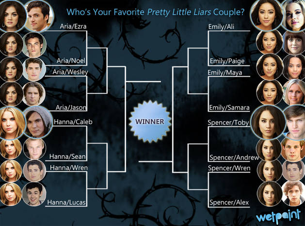 Pretty Little Liars Ship Bracket: Vote for Your Favorite Couple! — Round 1