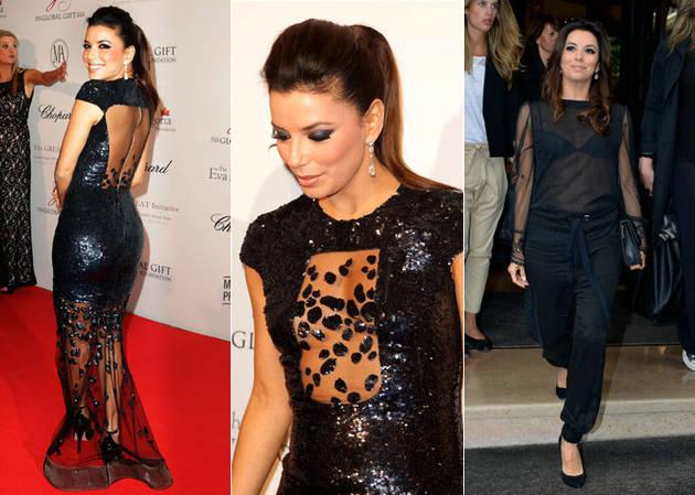 Eva Longoria's Double See-Through Outfits: Hot or Not? (PHOTOS)