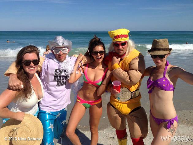 Nina Dobrev Flaunts Her Killer Bikini Body During Beach Yoga! (PHOTOS)