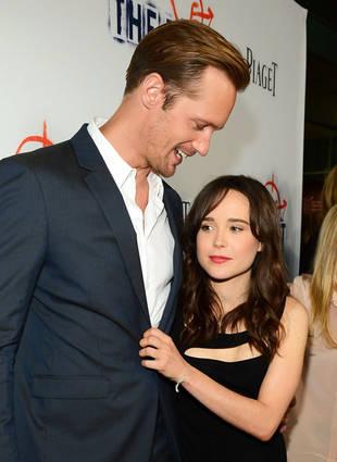 Is Alexander Skarsgard Dating Ellen Page? True Blood Star Hints at Relationship