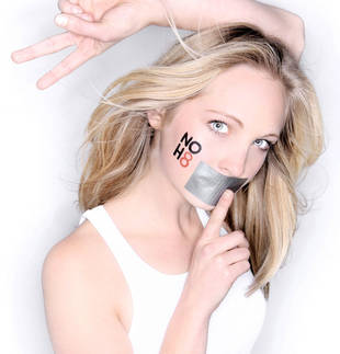 Candice Accola Shows Her Support For Marriage Equality in the NOH8 Campaign