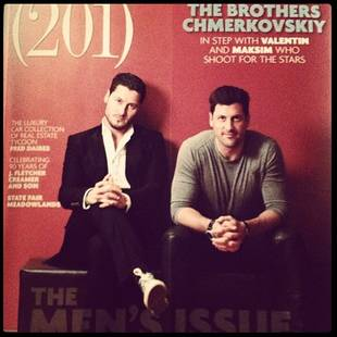 Dancing With the Stars Bros Maksim and Val Chmerkovskiy Cover 201 Magazine (PHOTO)