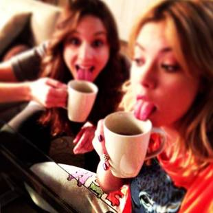 Ashley Benson and Troian Bellisario Wake Up and Lick the Coffee! (PHOTO)