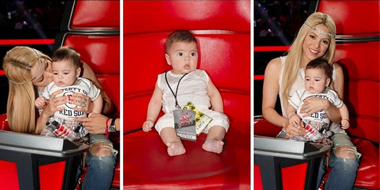 Shakira And Baby Milan Say Goodbye to The Voice (PHOTOS)
