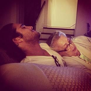 Pretty Little Liars' Diego Boneta Cuddles With His Grandma: Too Cute! (PHOTO)
