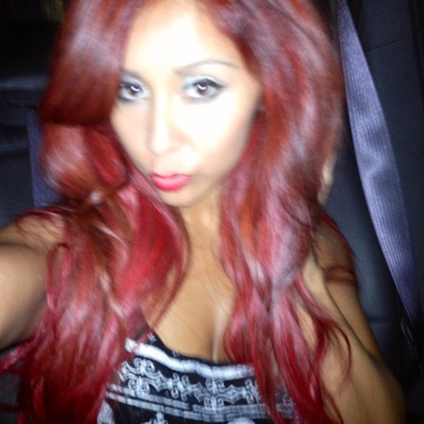 Snooki Goes Back to Red — Check Out Her Crazy New Hair Color! (PHOTO)
