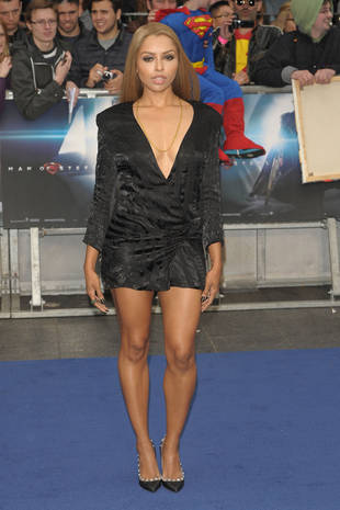 Vampire Diaries' Kat Graham Grins and Bares It at Man of Steel Premiere