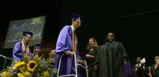 Paralyzed Teen Walks Across the Stage at Graduation, Shocking the Crowd (VIDEO)