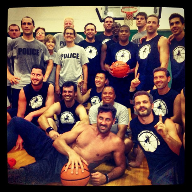 Maks and Val Chmerkovskiy and Tony Dovolani Dance and Play Basketball For Charity! (PHOTOS)