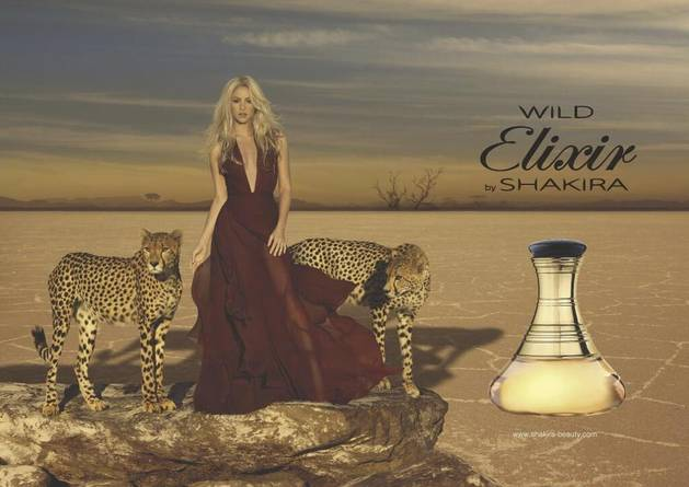 Shakira Poses With Cheetahs in Fragrance Commercial (PHOTO)