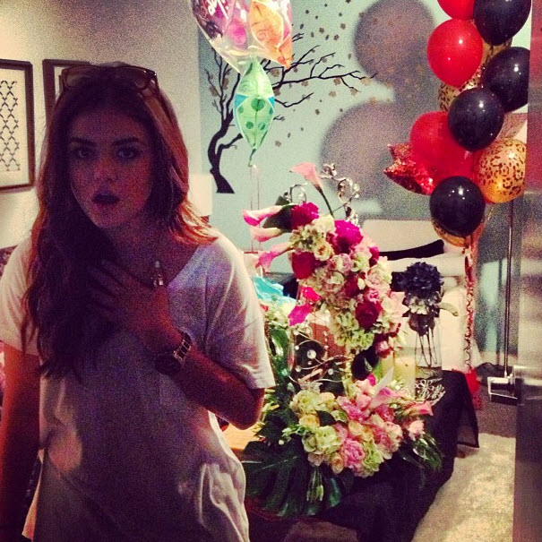 Pretty Little Liars Cast and Crew Celebrate Lucy Hale's Birthday With Epic Surprise