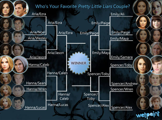 Pretty Little Liars Ship Bracket: Vote for Your Favorite Couple! — Semifinals