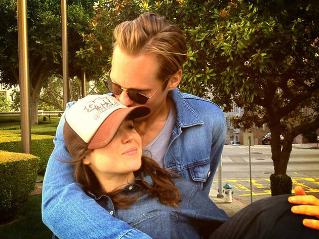 Alexander Skarsgard Plants a Sweet Kiss on Ellen Page (PHOTO)