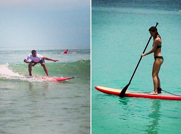 Ellen Pompeo and Gaius Charles Hit the Waves on Vacation! (PHOTOS)