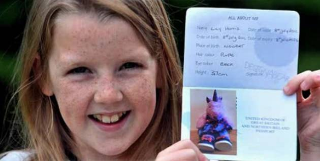 9-Year-Old Girl Clears Customs Using Fake Passport For Her Stuffed Unicorn