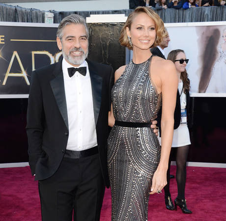 George Clooney and Stacy Keibler Spend July 4 Apart, Not Seen Together in Months