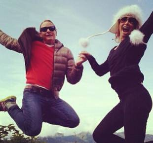 Dancing With the Stars' Kym Johnson and Carson Kressley Jump For Joy in Cute Pic