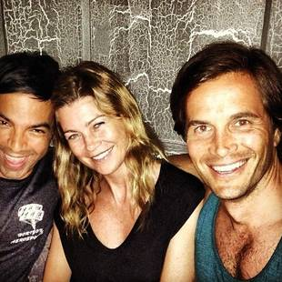 Grey's Anatomy's Ellen Pompeo Goes Makeup Free at Dinner With Friends (PHOTO)