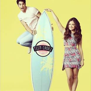 Pretty Little Liars' Lucy Hale Hosting Teen Choice Awards With Darren Criss: First Look Photo!