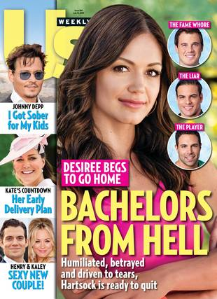 """Us Weekly Dubs Three of Desiree Hartsock's Guys """"Bachelors From Hell"""""""
