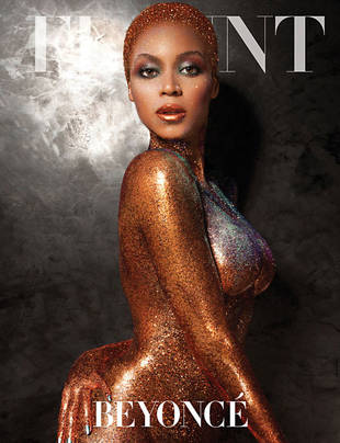 "Beyonce Poses Naked and Covered in Glitter, Talks ""Necking"" (PHOTO)"