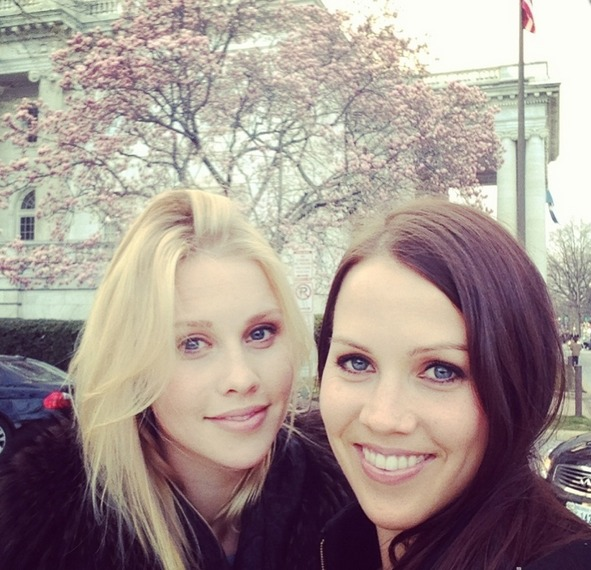 Claire Holt and her sister