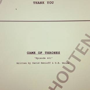 Game of Thrones Season 4 Script Sneak Peek! (PHOTO)