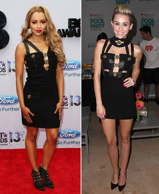 Kat Graham vs. Miley Cyrus in Versace — Who Wore It Best?