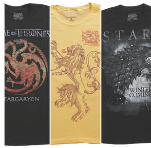 Game of Thrones Giveaway: Win House Sigil T-Shirts! — Winners Announced!