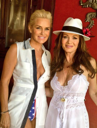 Real Housewives' Yolanda Foster Goes Red, White, and Boob! (PHOTO)