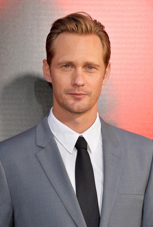 True Blood's Alexander Skarsgard Goes Shirtless in Family Picture! (PHOTO)