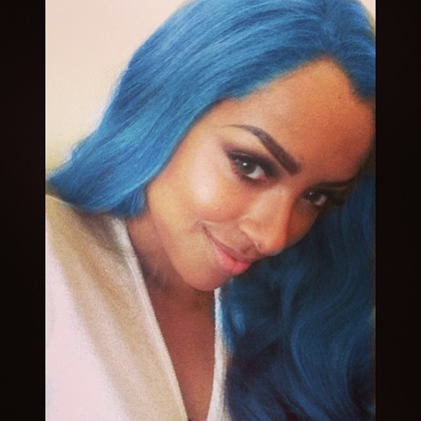 The Vampire Diaries' Kat Graham Shows Off Her Blue Hair