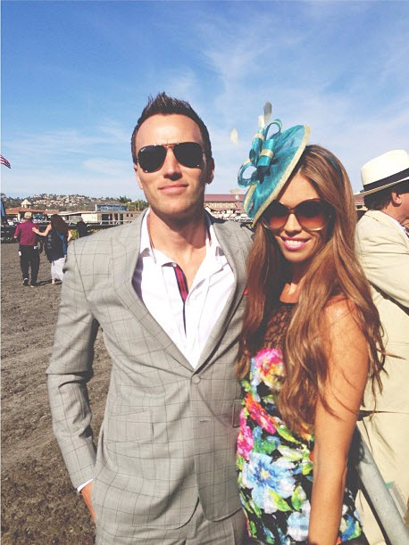 Lydia McLaughlin and Hubby Spend Day at Del Mar Horse Track (PHOTOS)