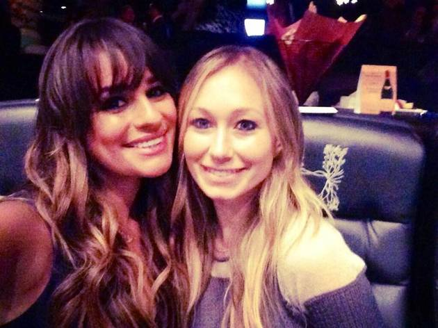 "Lea Michele and ""Super-Pregnant"" Heather Morris at the Beyonce Concert!"