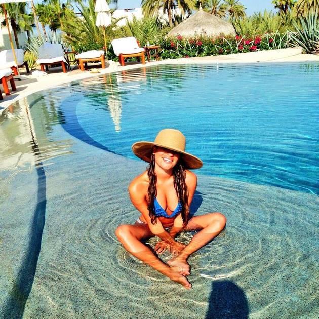 Lea Michele Shows Off Major Cleavage in Skimpy Bikini Photo