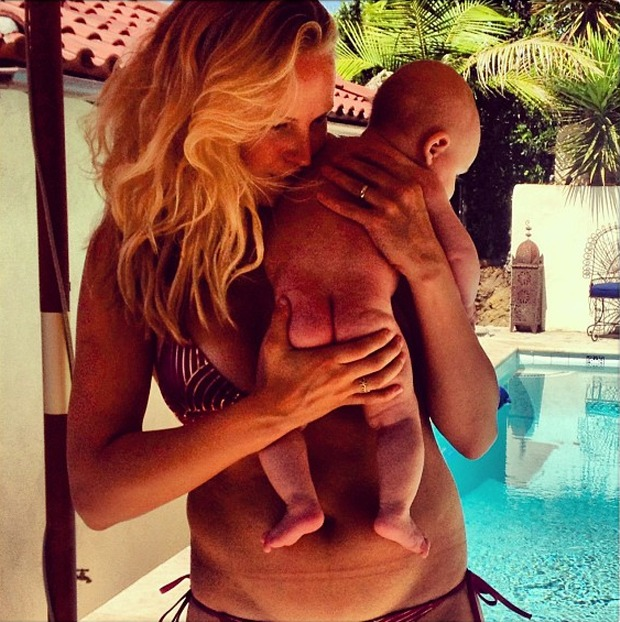 Malin Ackerman Shows Off Her Post-Baby Bikini Body — and Her Precious Baby Boy! (PHOTO)