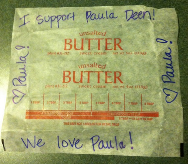 Paula Deen's Fans Organize to Send Empty Butter Wrappers to Her Former Sponsors