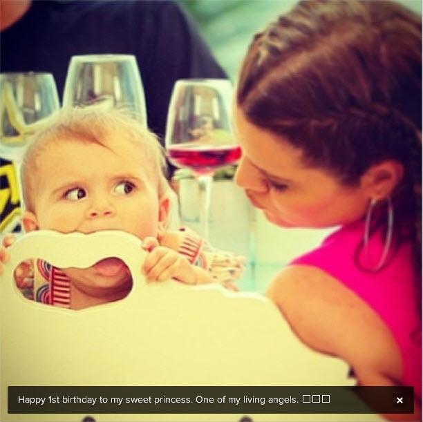 Kourtney Kardashian Daughter Penelope Disick Turns One