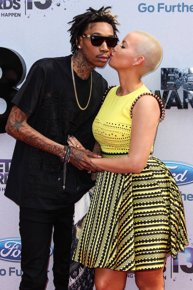 Wiz Khalifa and Amber Rose Share Gross PDA on Red Carpet