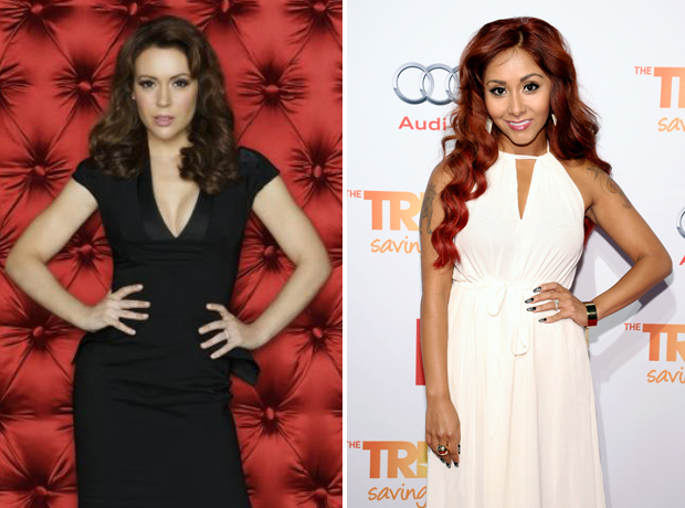 "Alyssa Milano Has ""Total Respect"" For Snooki and Wants to Kiss Baby Lorenzo!"