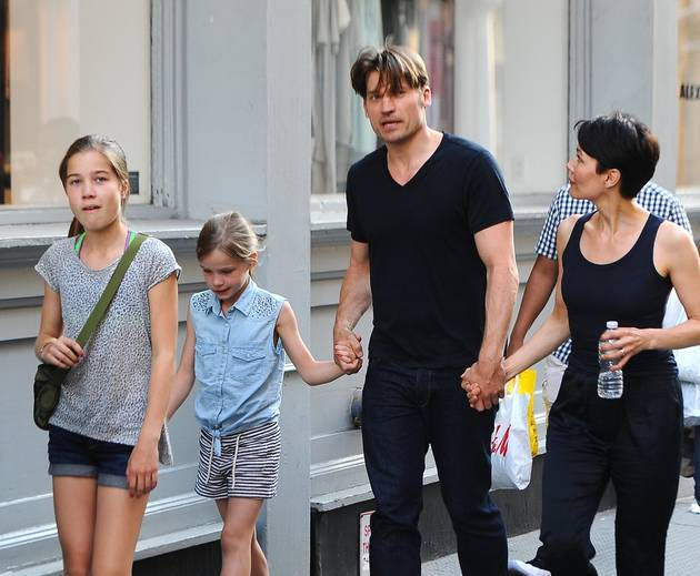 Family photo of the actor, married to Nukâka Coster-Waldau, famous for The Other Woman & Mama.