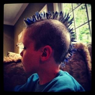 Maci Bookout's Son Bentley Edwards Rocks Blue Mohawk! (PHOTO)