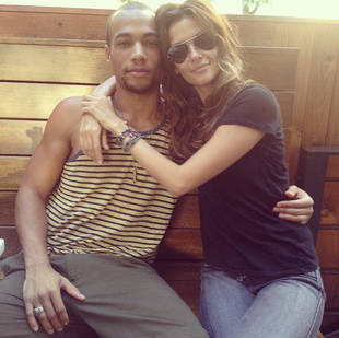 Vampire Diaries Season 5: Newbies Kendrick Sampson and Olga Fonda Hang Out! (PHOTO)