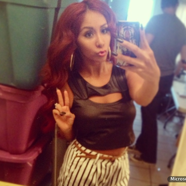 "Snooki Flaunts ""Boob Window"" in Leather Shirt — Hot or Not? (PHOTO)"