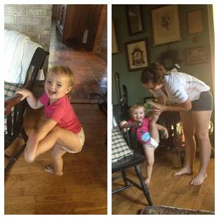 Alexandria Sekella Works on Daughter Arabella's Dance Poses (PHOTO)