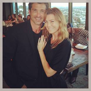 "Grey's Anatomy Season 10: Ellen Pompeo Shares Patrick Dempsey ""Porn"" (PHOTOS)"